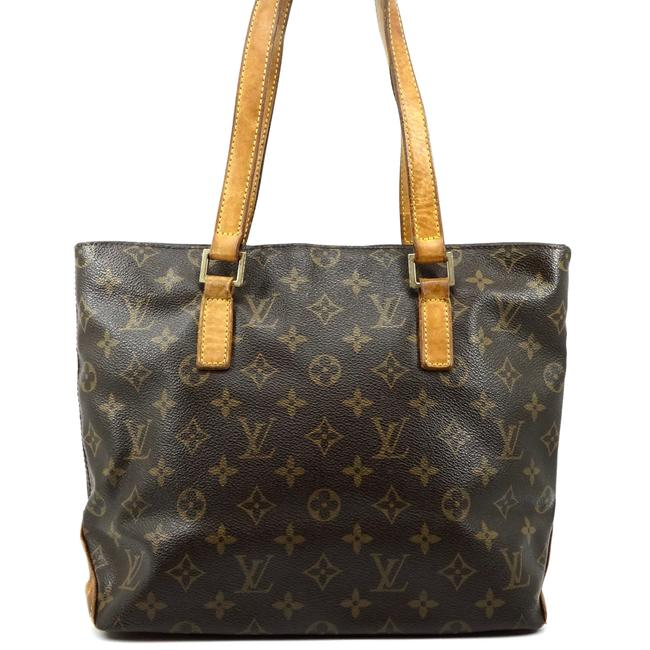 Louis Vuitton Cabas Piano Tote #4999l20 Brown Shoulder Bag Louis Vuitton Cabas Piano Tote #4999l20 Brown Shoulder Bag Image 1