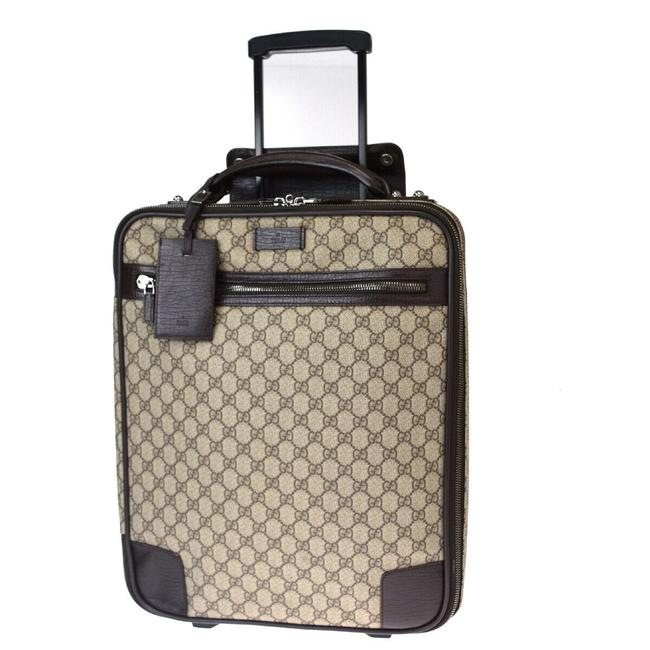 Gucci Shoulder Gg Pattern Sherry Carry-on Suitcase Pvc Leather #5002g10b Brown Weekend/Travel Bag Gucci Shoulder Gg Pattern Sherry Carry-on Suitcase Pvc Leather #5002g10b Brown Weekend/Travel Bag Image 1