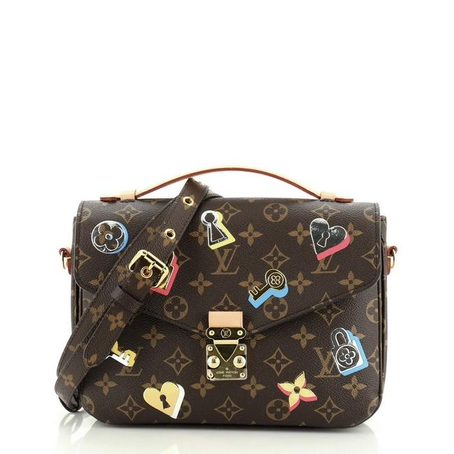 Louis Vuitton Pochette Metis Limited Edition Love Lock Monogram Brown Canvas Coated Cross Body Bag Louis Vuitton Pochette Metis Limited Edition Love Lock Monogram Brown Canvas Coated Cross Body Bag Image 1
