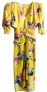 Norma Walters Vintage Summer 80s Floral 80s Dress
