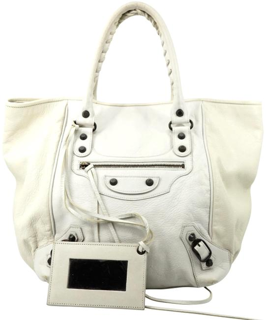 Balenciaga Sunday #5010b15 White Satchel Balenciaga Sunday #5010b15 White Satchel Image 1