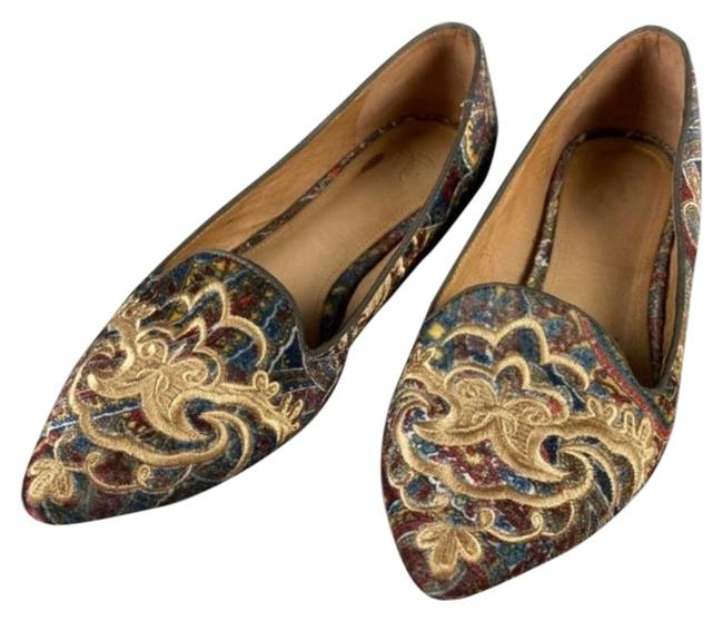 Joie Multicolor Sabina Paisley Velvet Embroidered Flats Size EU 39 (Approx. US 9) Regular (M, B) Joie Multicolor Sabina Paisley Velvet Embroidered Flats Size EU 39 (Approx. US 9) Regular (M, B) Image 1