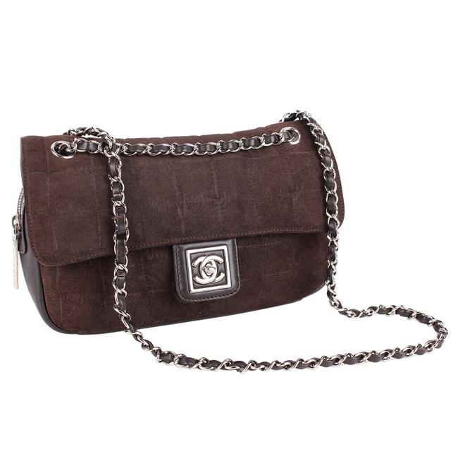 Chanel 8570 Brown Soft Suede Shoulder Bag Chanel 8570 Brown Soft Suede Shoulder Bag Image 1