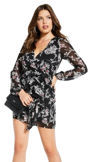 Preload https://img-static.tradesy.com/item/27686707/guess-black-silver-thread-floral-party-short-night-out-dress-size-2-xs-0-1-650-650.jpg