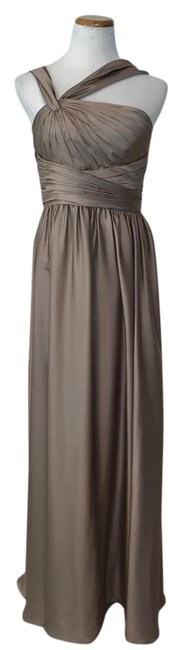 Item - Taupe Gown Long Formal Dress Size 8 (M)