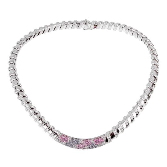 Preload https://img-static.tradesy.com/item/27686778/roberto-coin-white-gold-nabucco-diamond-pink-and-blue-sapphire-1960-necklace-0-0-540-540.jpg