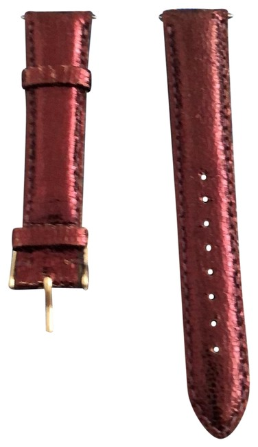 Michele Purple Leather with Slight Pattern Watch Michele Purple Leather with Slight Pattern Watch Image 1