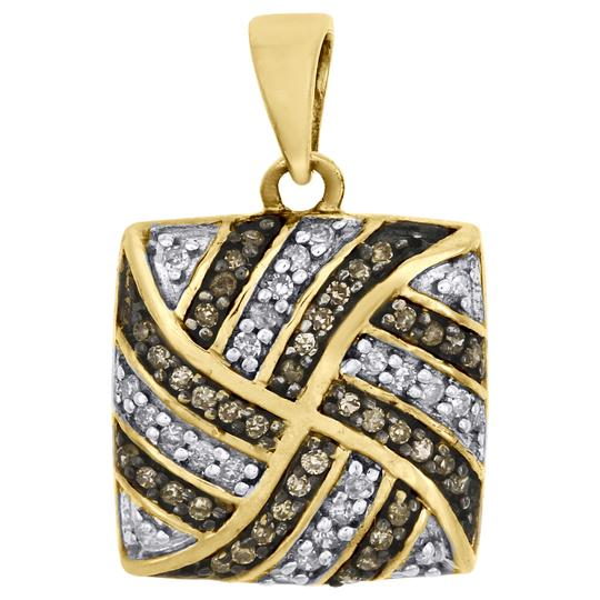 Preload https://img-static.tradesy.com/item/27686810/jewelry-for-less-yellow-gold-brown-diamond-square-pendant-10k-025-ct-charm-0-0-540-540.jpg