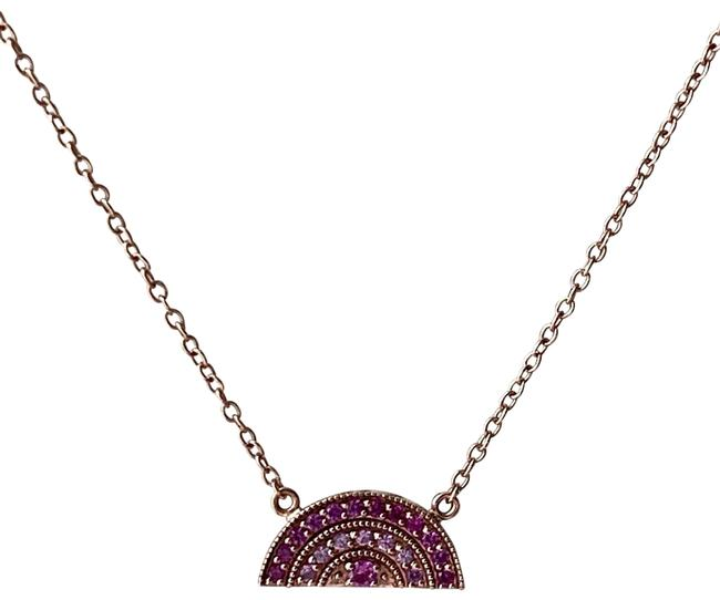 Pink Sapphire Rainbow Necklace Pink Sapphire Rainbow Necklace Image 1