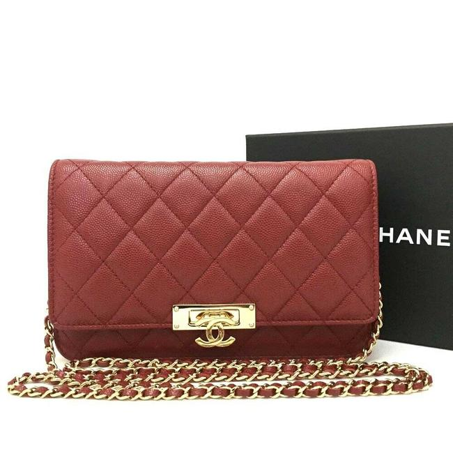 Chanel Wallet on Chain 8539 New Red Leather Cross Body Bag Chanel Wallet on Chain 8539 New Red Leather Cross Body Bag Image 1