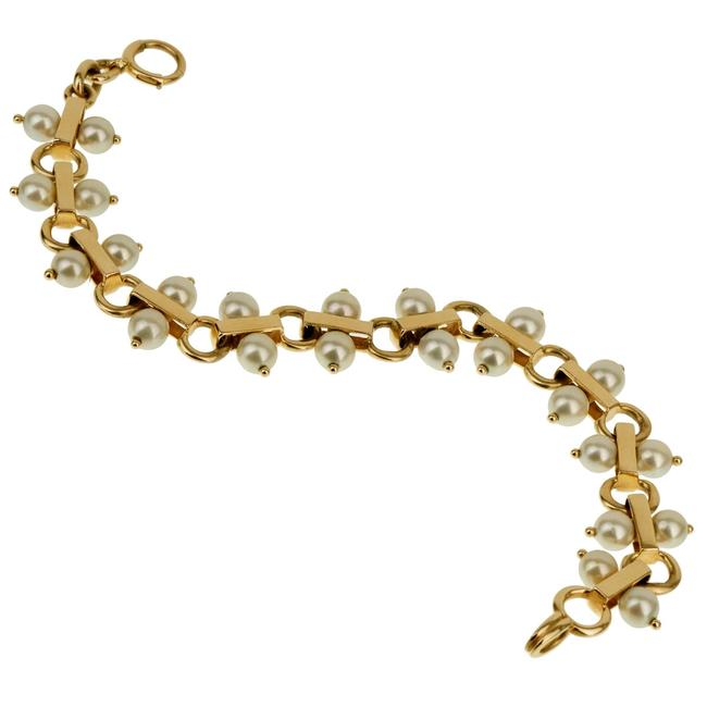 Tiffany & Co. Yellow Gold Co Vintage Pearl 1842 Bracelet Tiffany & Co. Yellow Gold Co Vintage Pearl 1842 Bracelet Image 1