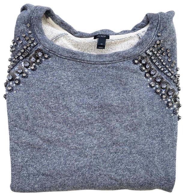 Preload https://img-static.tradesy.com/item/27687092/jcrew-jeweled-heather-raglan-sweatshirt-gray-sweater-0-1-650-650.jpg