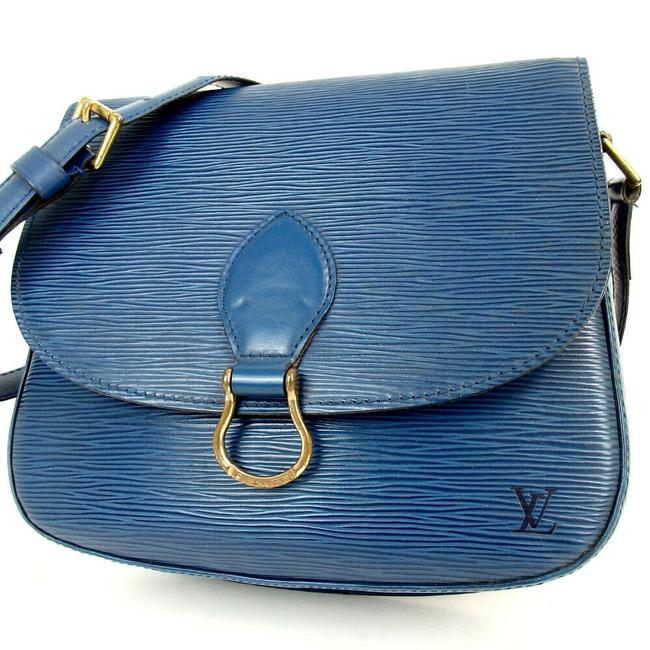 Louis Vuitton Saint Cloud Epi #5031l17 Blue Cross Body Bag Louis Vuitton Saint Cloud Epi #5031l17 Blue Cross Body Bag Image 1