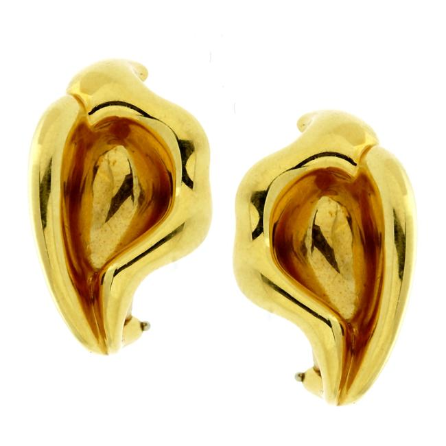 Item - Yellow Gold Co Calla Lily 887 Earrings