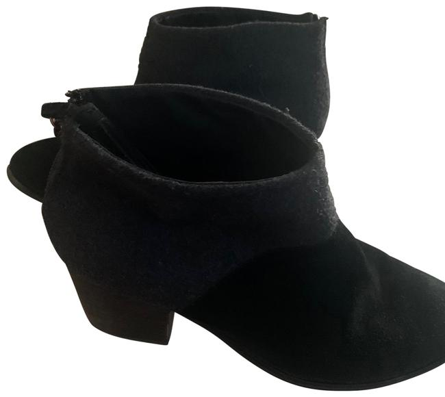 Item - Black and Grey Women's Suede Leather Boots/Booties Size US 10 Regular (M, B)