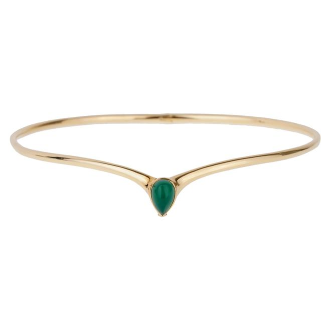 Item - Yellow Gold And Chrysoprase Choker 1072 Necklace