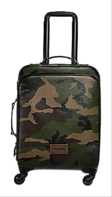 Item - Wheeled Carry On with Camo Print F72943 Multicolor Coated Canvas Weekend/Travel Bag
