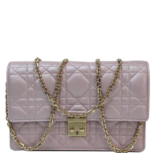 Item - Wallet on Chain Christian Promenade Pink Leather Cross Body Bag