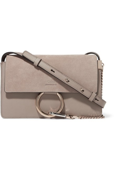 Item - Shoulder Faye - Small Gray Leather Suede Cross Body Bag