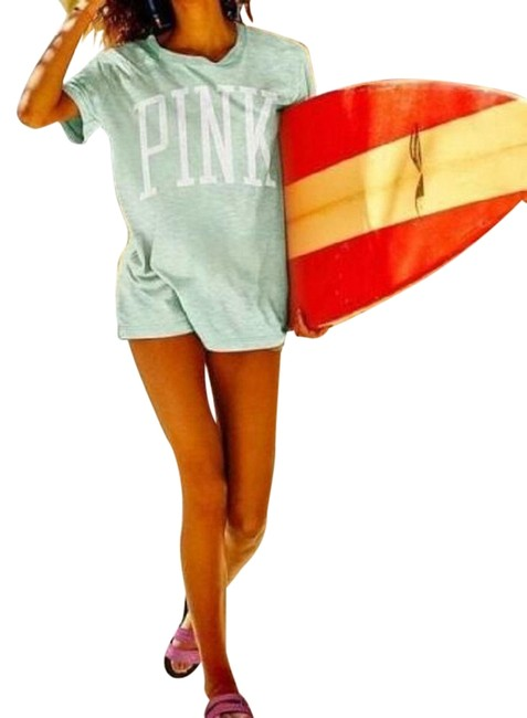 Item - Mint XS New Vs Pink Campus Oversized / Small Tee Shirt Size 2 (XS)