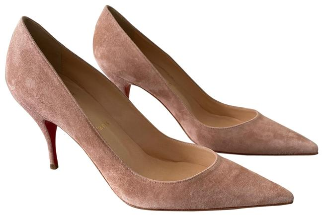 Item - Courtisane (Nude/Soft Pink/Beige) Clare 80 Suede Pumps Size EU 37.5 (Approx. US 7.5) Regular (M, B)