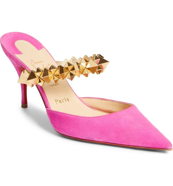 Item - Pink Choc Embellished Mules/Slides Size EU 41 (Approx. US 11) Regular (M, B)