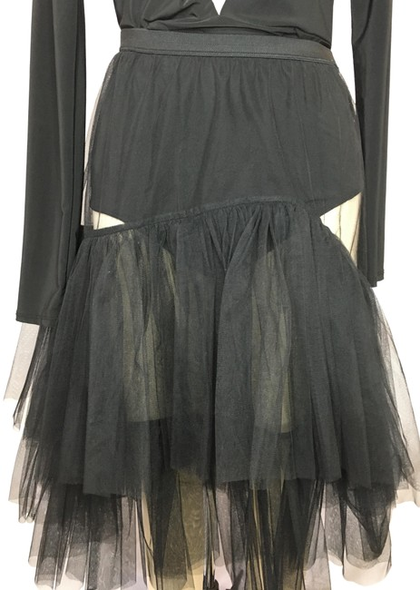 Item - Black Sheer Tiered Skirt Size 2 (XS, 26)