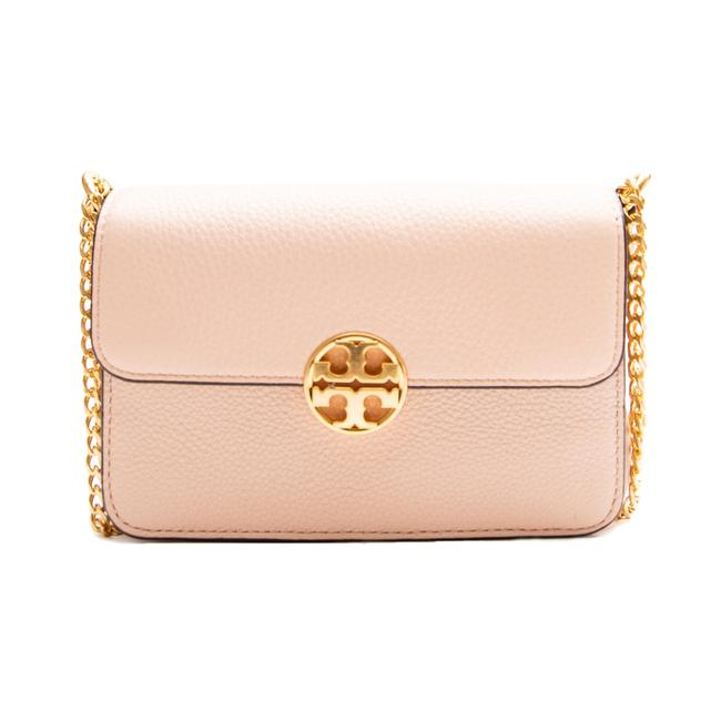 Tory Burch Chelsea Mini Cross Body Pale Apricot Leather Shoulder Bag Tory Burch Chelsea Mini Cross Body Pale Apricot Leather Shoulder Bag Image 1