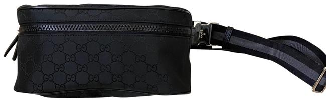Item - Waist ssima Pack Black Nylon Cross Body Bag