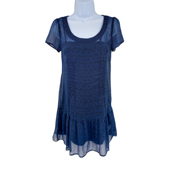 Item - Floral Sleeve Scoop Neck Layered Silky S Occasion: C Mid-length Short Casual Dress Size 4 (S)