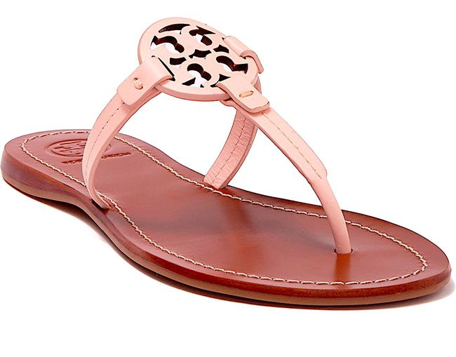Item - Pink New Gabriel Leather T-strap Sandals Size US 7 Regular (M, B)