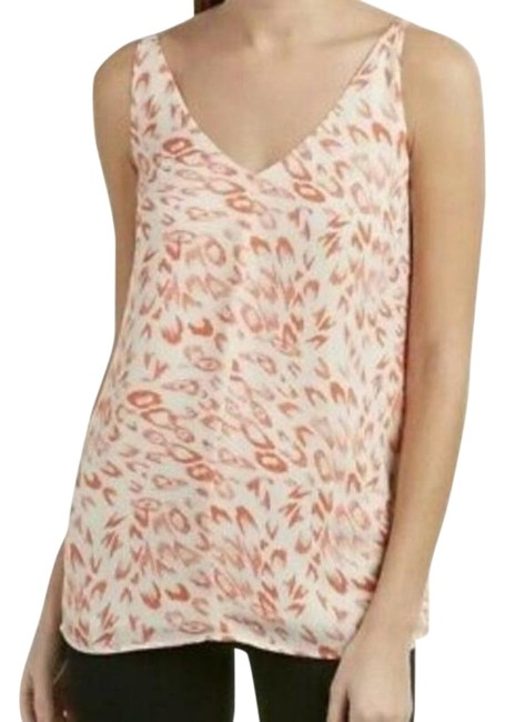 Item - White Pink Leopard Print Tank Top/Cami Size 4 (S)