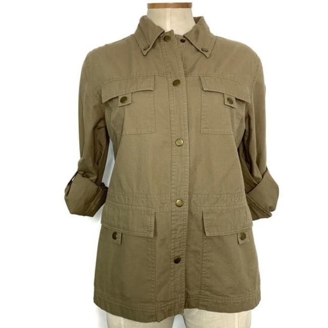 Item - Green Army Khaki Utility Jacket Size 4 (S)