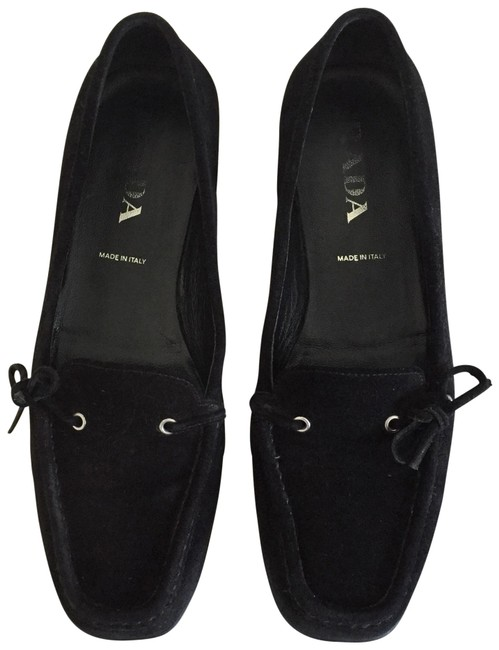 Item - Black Suede Loafers Flats Size US 7 Regular (M, B)
