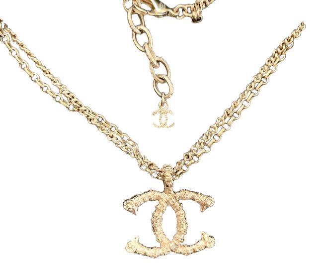 Chanel Gold Tone Cc Necklace Chanel Gold Tone Cc Necklace Image 1