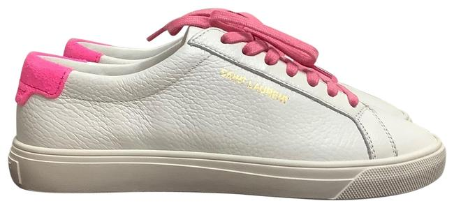 Item - White and Pink Ysl Andy Low-top Sneakers Size EU 35 (Approx. US 5) Regular (M, B)