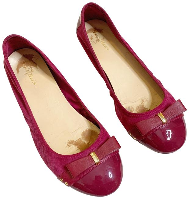 Cole Haan Pink Suede Nike Air Patent Leather Cap Toe Flats Size US 8.5 Regular (M, B) Cole Haan Pink Suede Nike Air Patent Leather Cap Toe Flats Size US 8.5 Regular (M, B) Image 1