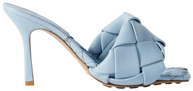 Item - Blue Intrecciato Quilted Leather Mules/Slides Size EU 38.5 (Approx. US 8.5) Regular (M, B)