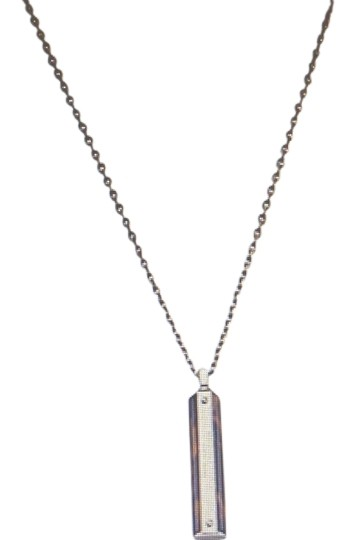Michael Kors MIchael Kors NEW with Tag Long Heritage 34 inches Logo steel tortoise Plaque Pendant Necklace