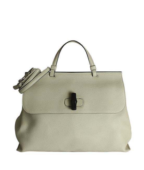 Item - Bag 370830 Bamboo Daily Top Handle 2- Way (188253) Cream Leather Tote