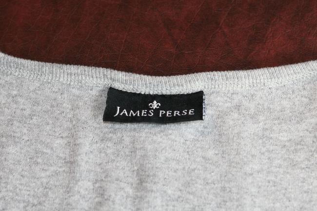 James Perse Cotton Women Fashion V-neck Sleeveless Casual Weekend Gym T Shirt Gray