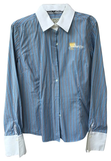 Bobby Jones Presidents Cup Button Down Shirt Blue stripe