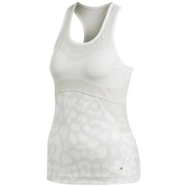 adidas By Stella McCartney White Court Tennis In Leopard Activewear Top Size 0 (XS) adidas By Stella McCartney White Court Tennis In Leopard Activewear Top Size 0 (XS) Image 1