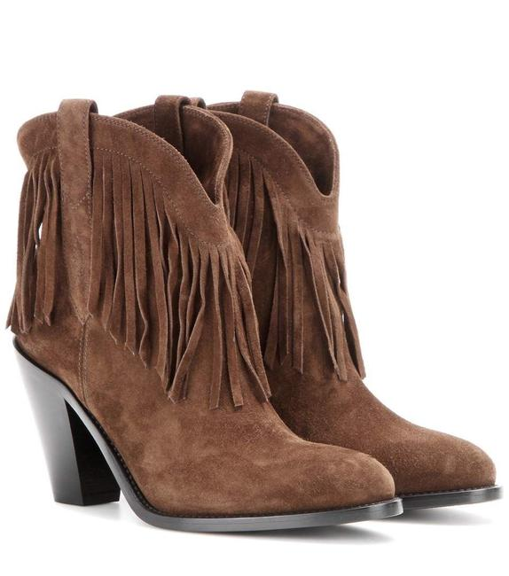 Item - Brown Curtis 80 Fringed Ankle In Coffee Suede Boots/Booties Size EU 37 (Approx. US 7) Regular (M, B)