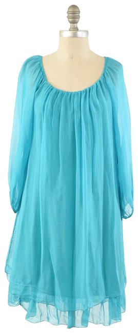 Item - Teal Silk Short Cocktail Dress Size 6 (S)