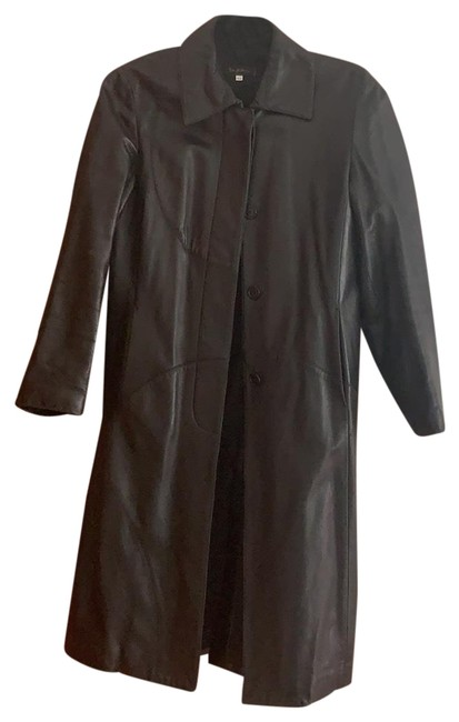 Item - Black Lamb Skin Leather Coat Size 10 (M)