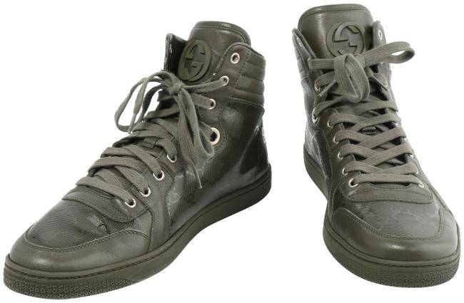 Item - Military Green Gg Imprime High-top Logo Sneakers Boots/Booties Size US 9.5 Regular (M, B)