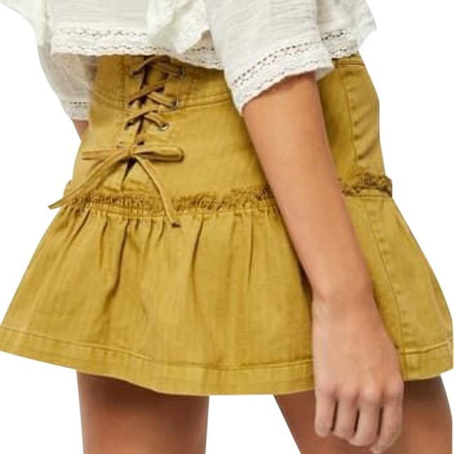 Item - Gold Positano Lace Up Skirt Size 6 (S, 28)