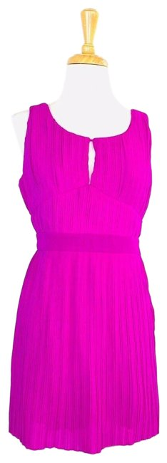 Item - Magenta Pleated Open Short Cocktail Dress Size 8 (M)