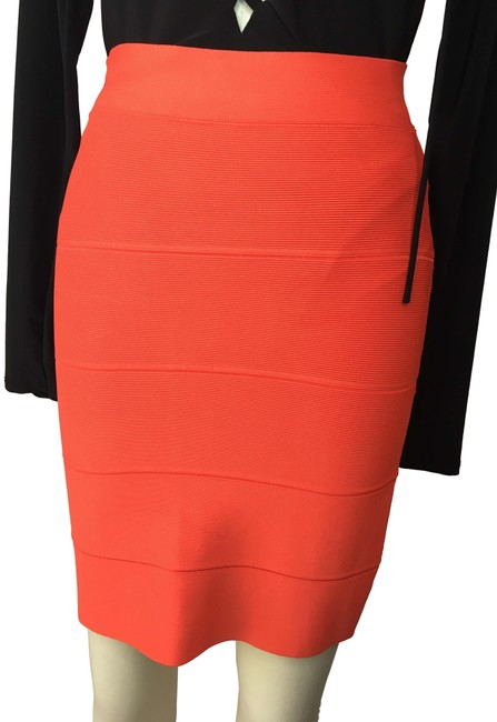 Item - Dark Orange Stretch Power Skirt Size 6 (S, 28)